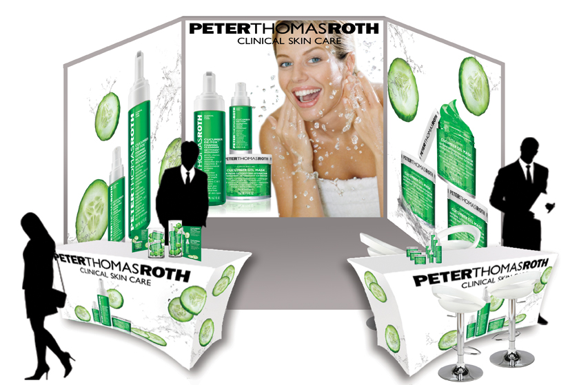 PTR Cucumber products trade show booth