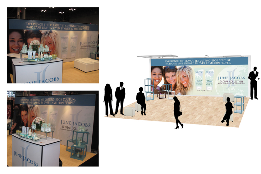June Jacobs trade show booth design