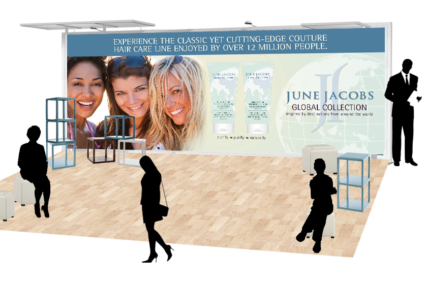 June Jacobs trade show booth