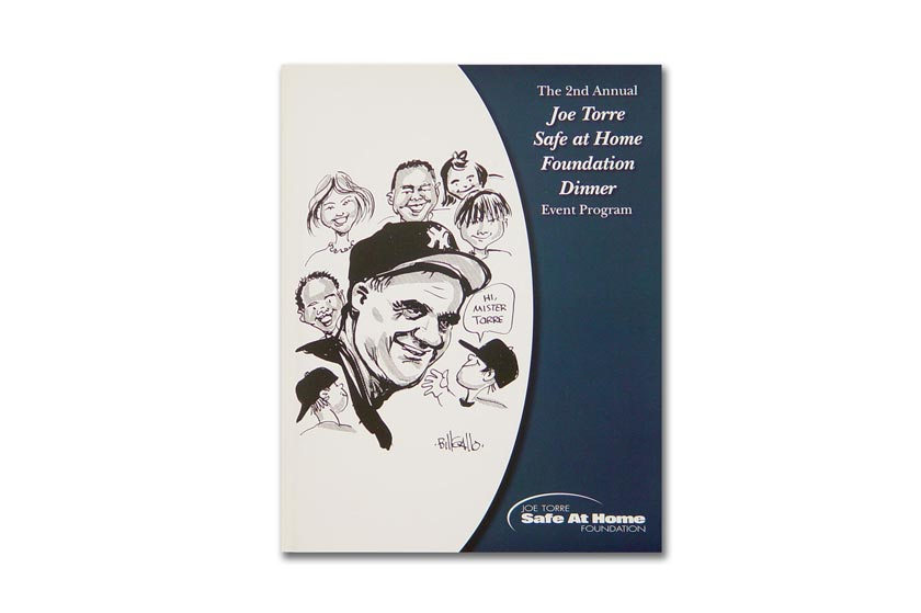 Joe Torre's Safe at Home Foundation dinner program