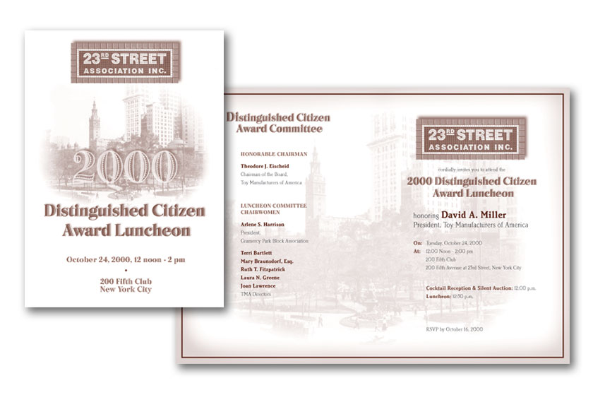 23rd St Association luncheon invitation