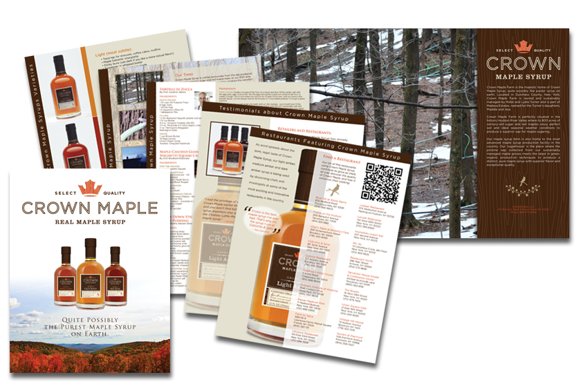 Crown Maple promotional folder & sellsheets