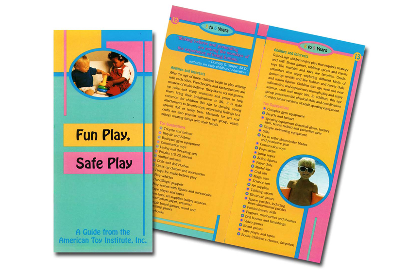 Toy Industry Foundation's Fun Play Safe Play brochure