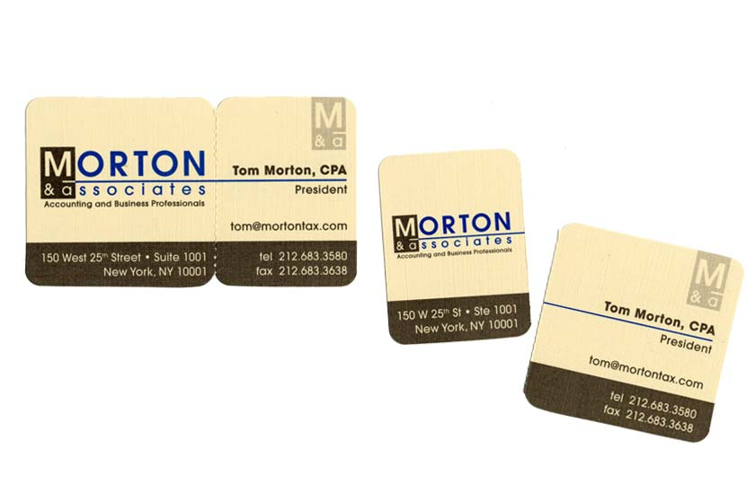 Morton & Associates business card