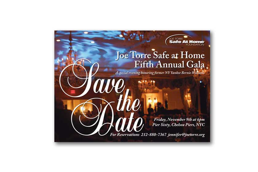 Joe Torre's Safe at Home Foundation save the date