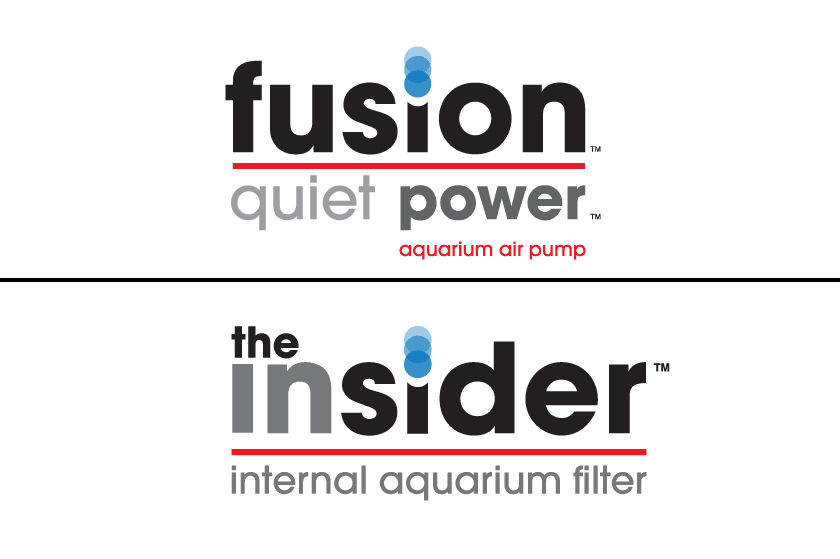 Fusion & Insider aquarium products logos