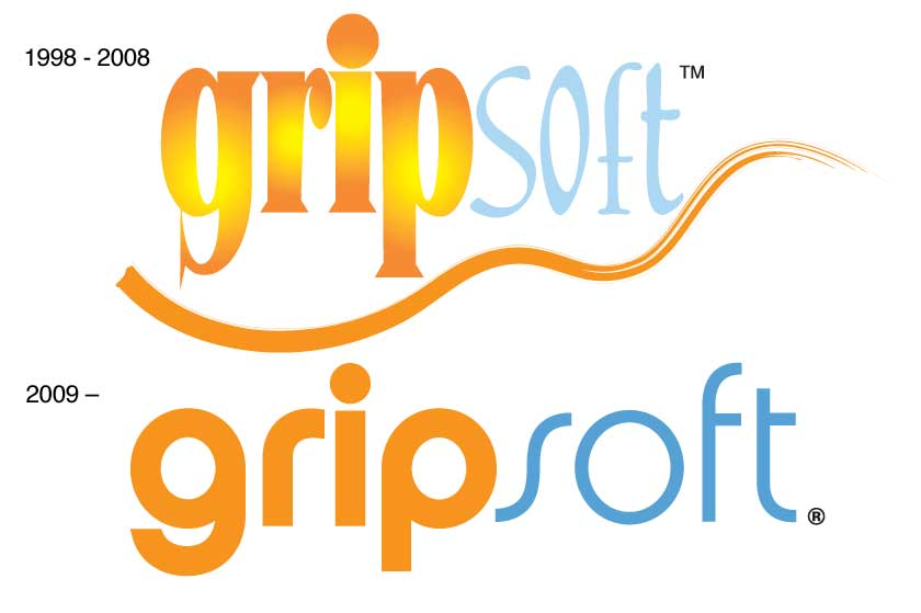 Gripsoft logos - generation 1 & 2
