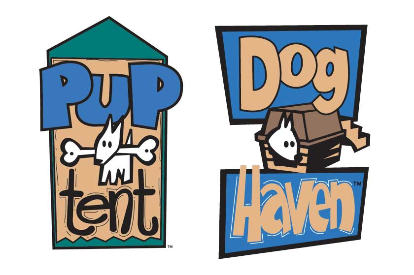 Pup Tent & Dog Haven logos