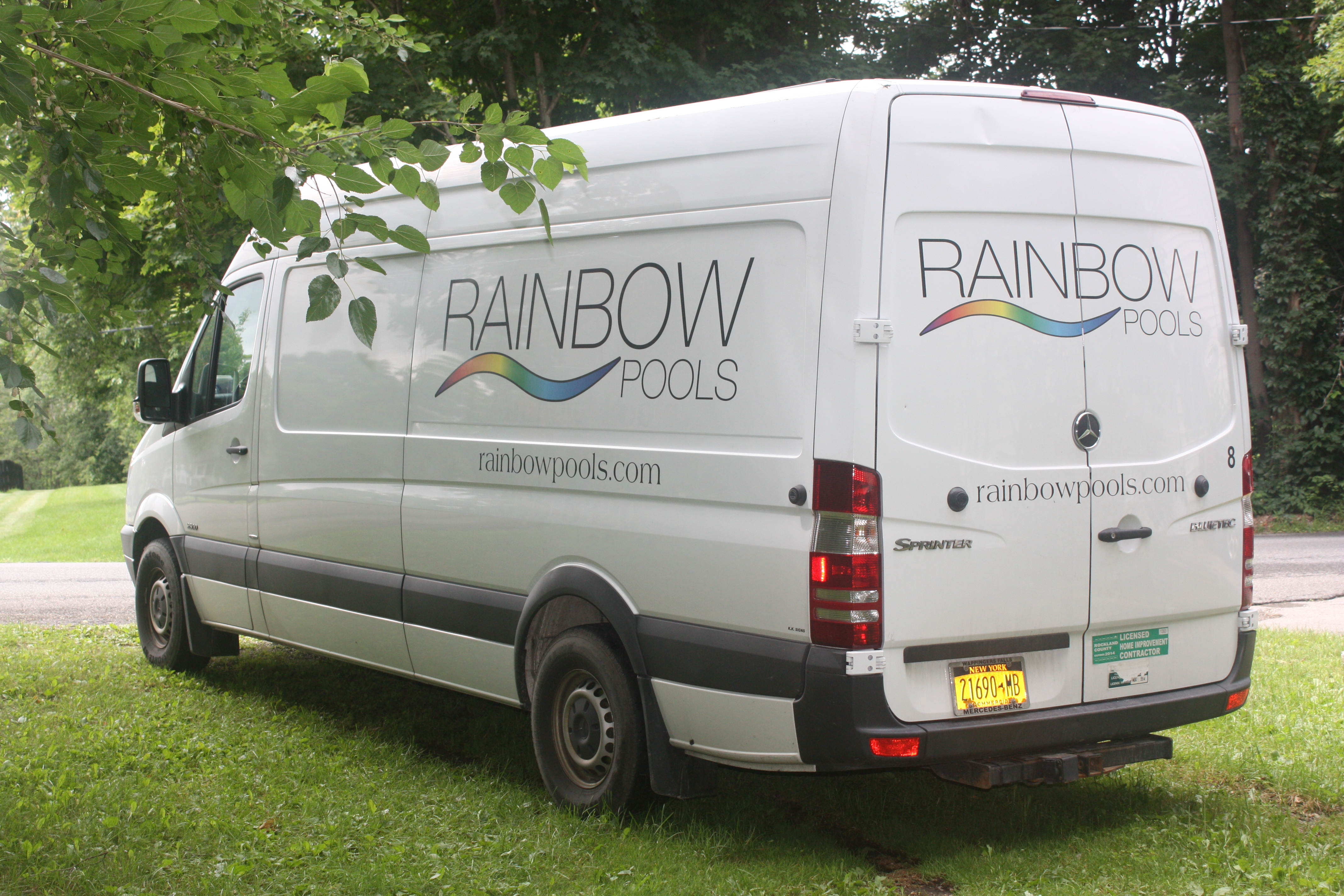 Rainbow Pools logo & branding