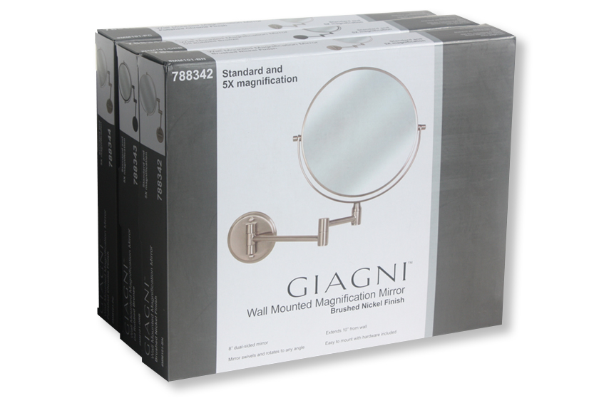 Giagni Mirrors packaging & line look