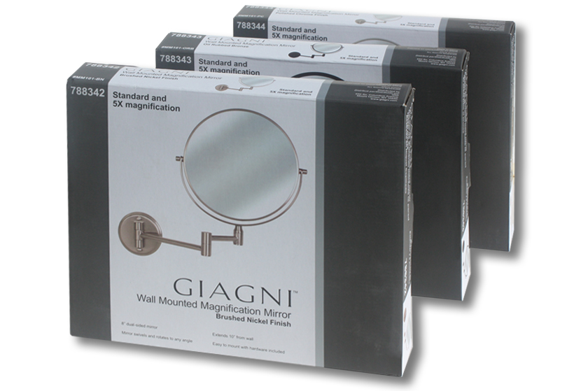 Giagni mirror packaging & line look
