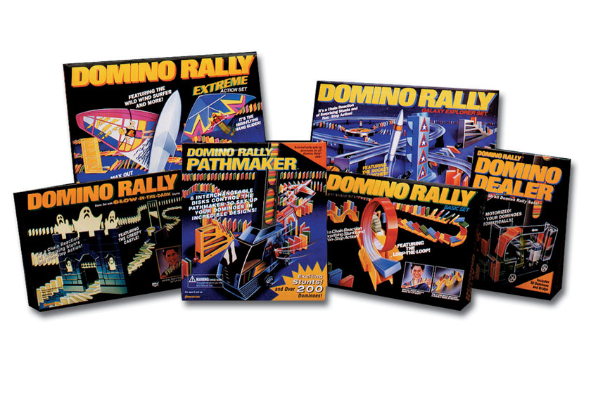 Domino Rally packaging & line look
