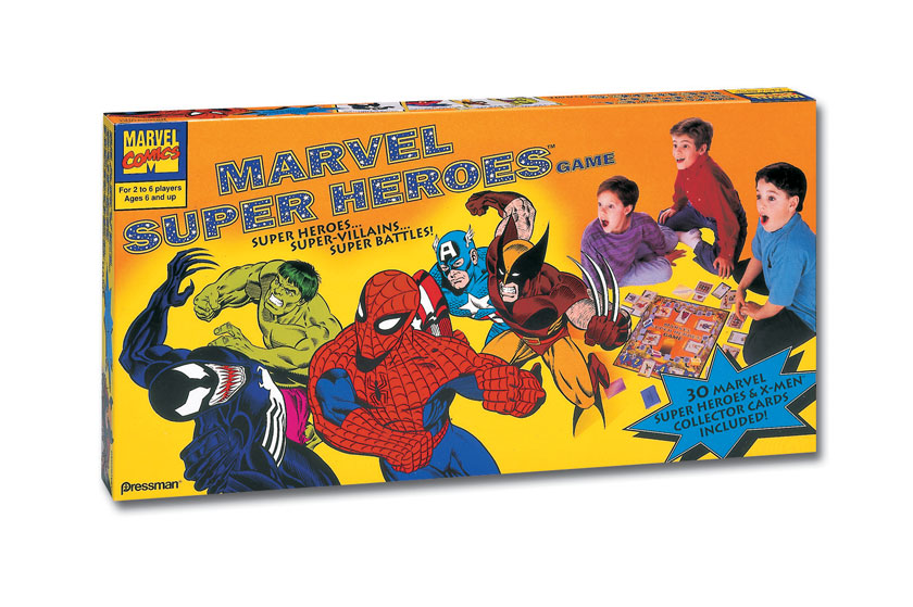 Marvel game packaging