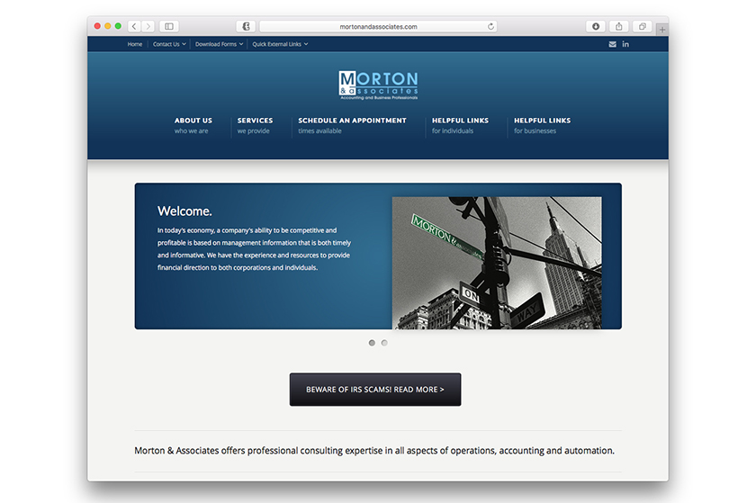 Morton & Associates website