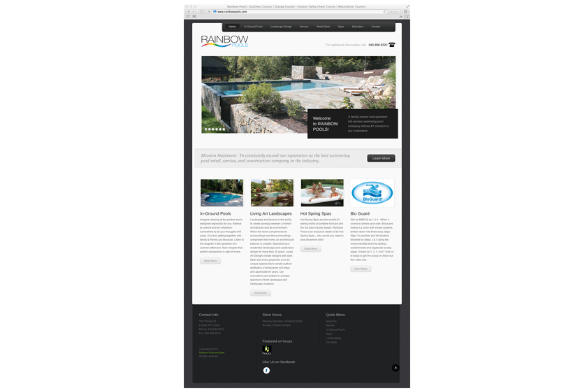 Rainbow Pools website